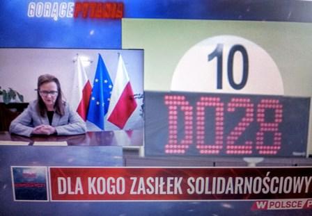 screen z wywiadu z prezes ZUS