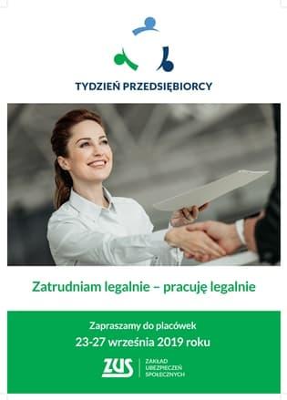 plakat na Tydzień Przedsiębiorcy