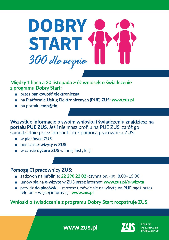 infografika 300+, jak otrzymać wspracie, szczegóły podane są w towarzyszącym artykule