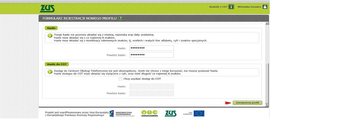 697a83f67c3b5a Informacja o pomyślnym założeniu profilu kończy etap rejestracji; na adres  e-mail zostaje przesłana informacja z loginem do utworzonego profilu